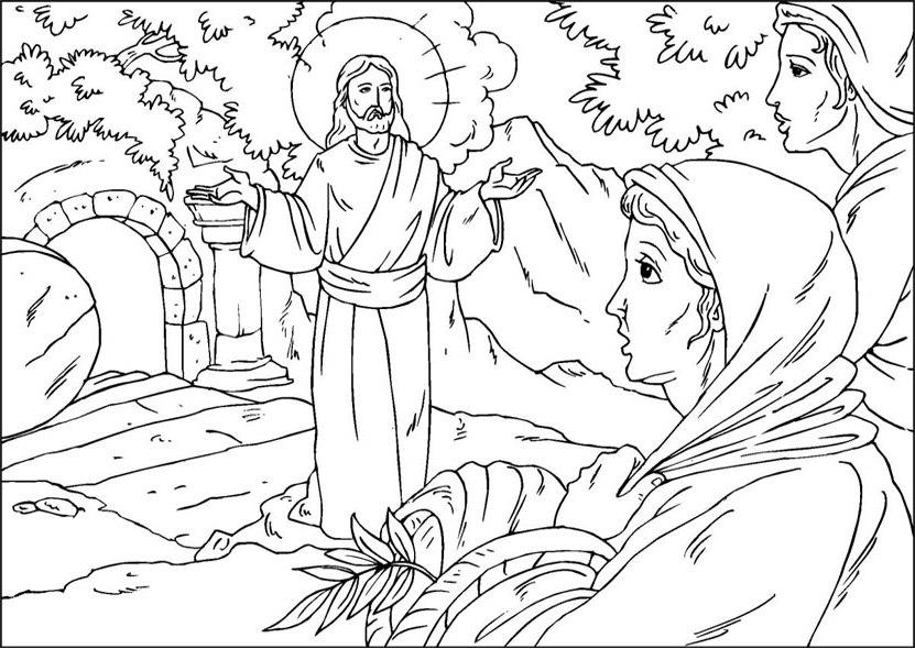 bijbelse kleurplaten over pasen